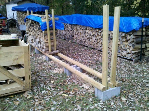 cinder block firewood rack - Google Search