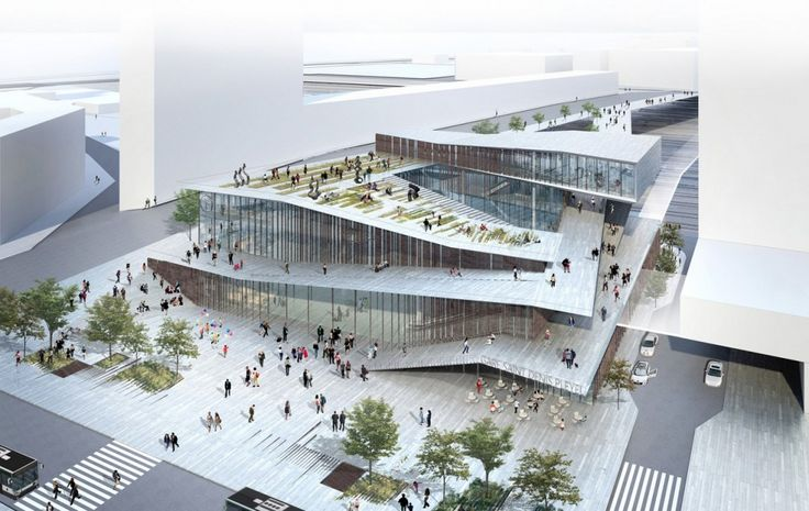 The new Saint-Denis Pleyel train station design competition : Kengo Kuma & Association