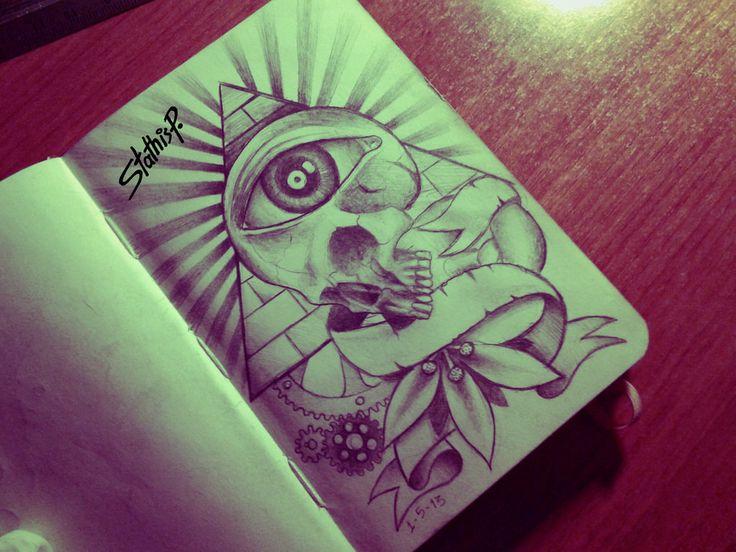 illuminati skull eye by StathisP I Love This!
