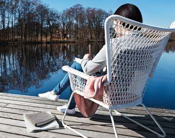 definitely need that chair! actually the lake looks better;P