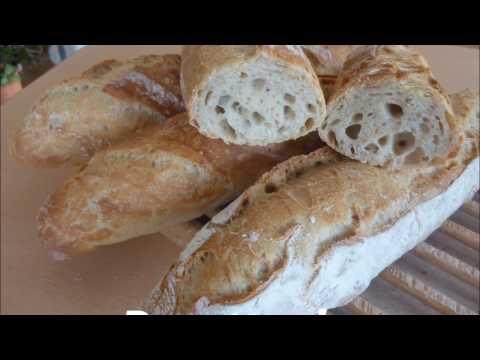 Recette des baguettes à pâte fermentée - YouTube