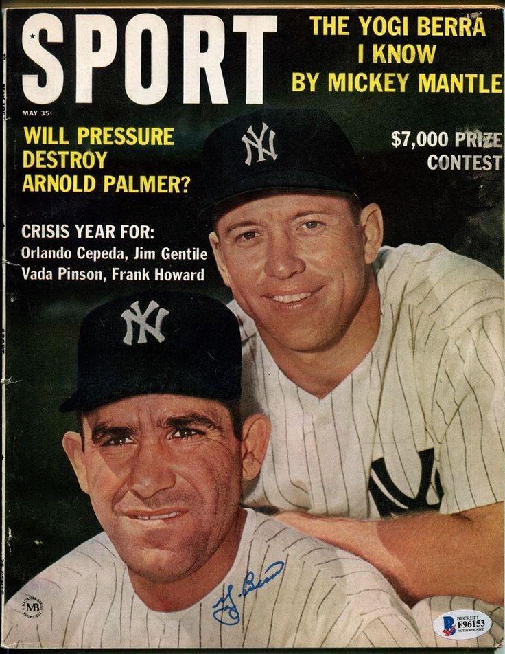 Yogi Berra Signed 1963 Sport Magazine Full Autographed Yankees Ex Mt Beckett Bas Ebay Link Mickey Mantle Yogi Berra Sports Magazine