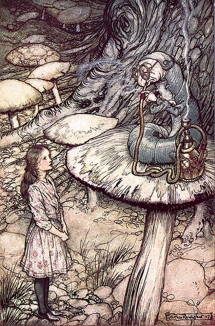 """""""Alice in Wonderland"""" (Alicia en el país de las maravillas) Arthur Rackham (Ilustrador inglés 1867-1939)"""
