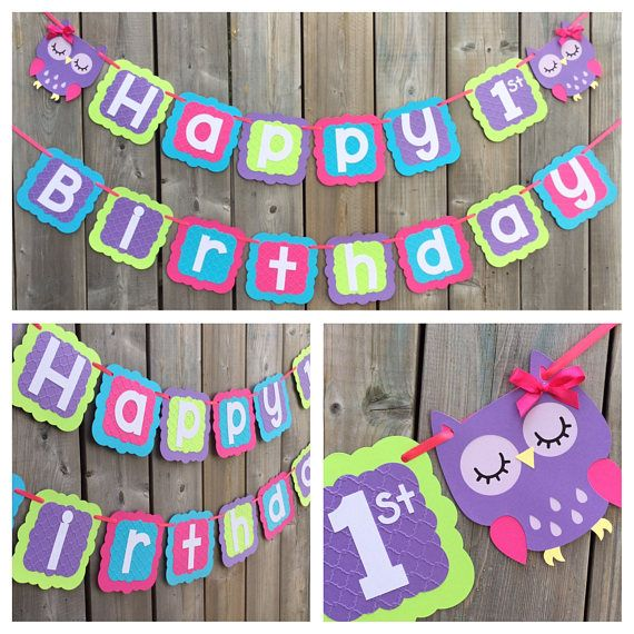 1000 Ideas About 1st Birthday Banners On Pinterest: 25+ Best Ideas About Owl 1st Birthdays On Pinterest