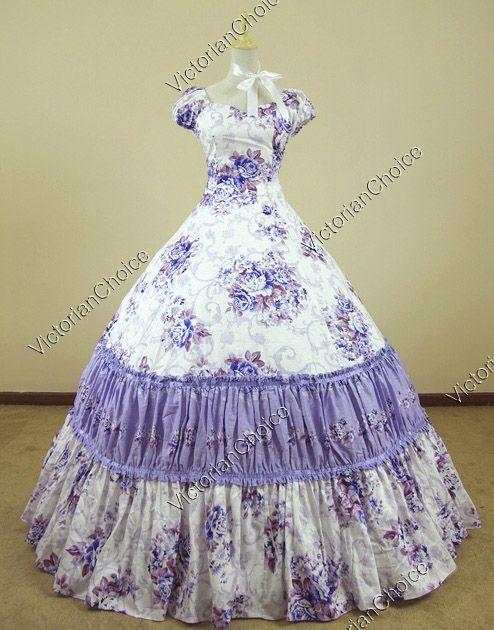 Civil War Southern Belle Lolita Ball Gown Dress Reenactment 76c5410e9131