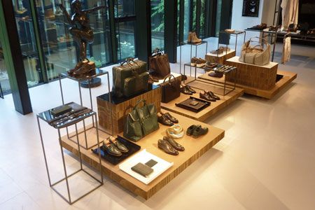 Kiton showroom in Milan, cardboard installation for retail design