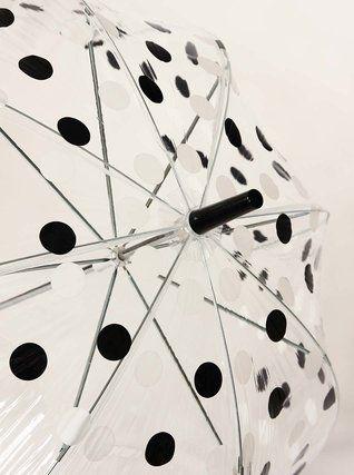Lindy Lou - Deštník  Chaplin s černo-bílými puntíky - 1  http://damske-doplnky.zoot.cz/destniky/destnik-lindy-lou-chaplin-s-cerno-bilymi-puntiky