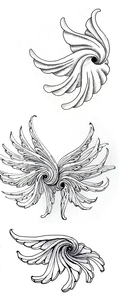 Zentangle Newsletter - 12 Days of 3Zs (continued) & 2 New Tangles! Drawings tangle.