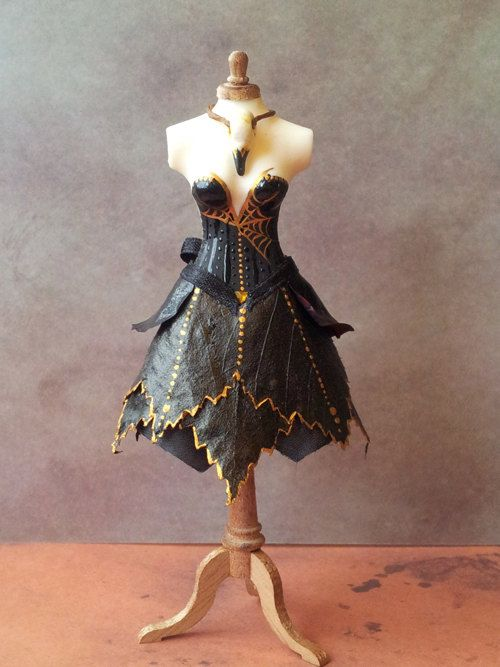 Dress  1 1/2 dollhouse miniature by Yasminesshop on Etsy, £53.00