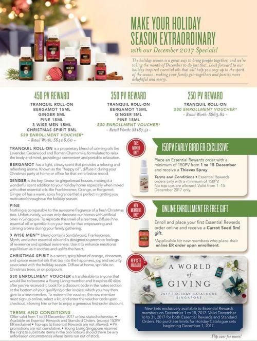 Singapore December Promos www.EssentialOils4Sale.com