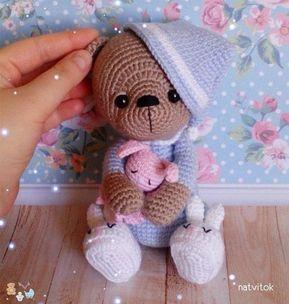 Милый вязаный мишка в пижаме, Вязание для всех, клуб и форум для общения - Кашалот
