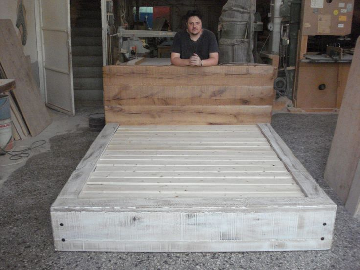 Rustic bed by Beaver Home furniture.