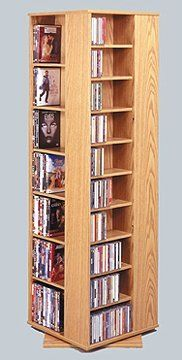 Leslie Dame Spinning CD/DVD Tower In Oak By Leslie Dame. $299.95. Color