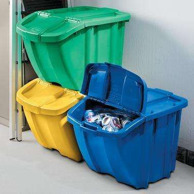 recycling bins for home | Cute Home Recycling Bins for Plastics, Paper, & Aluminum | ThisNext