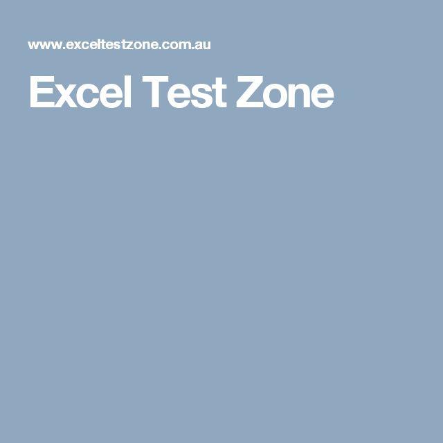 Excel Test Zone