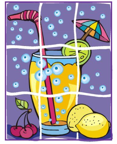 9-pc summer drink puzzle