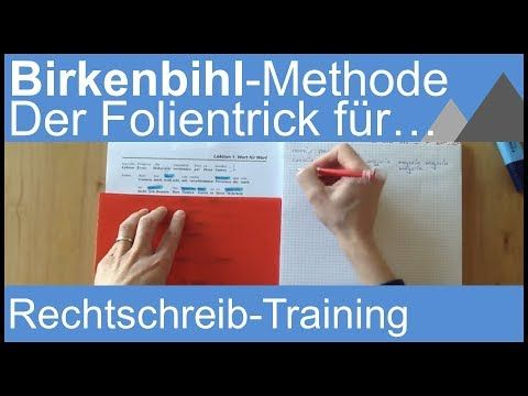 Birkenbihl-Methode / Gehirn-gerechtes Rechtschreib-Training – YouTube – Ann Gru