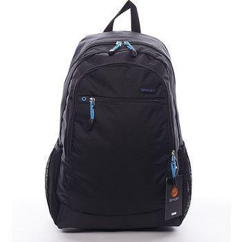 #diviley #nate Černý batoh Diviley s prostornými kapsami. Černá kombinovaná s výraznou modrou je to pravé právě pro vás. Batoh má vyztužená záda, nastavitelné polstrované popruhy a několik kapes. Dopřejte si kvalitní a pohodlný batoh nejen pro vaše tůry.