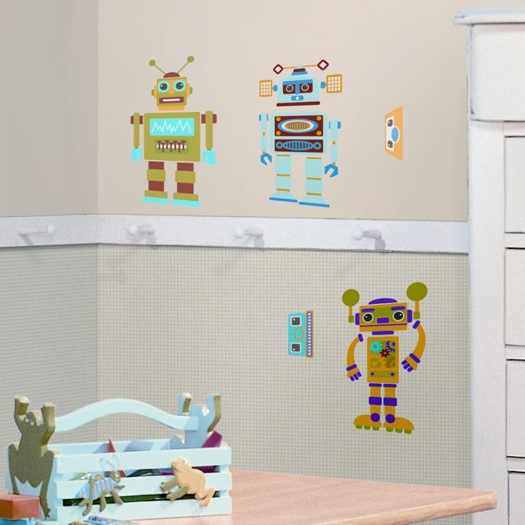 Studio Designs 65 Piece Build Your Own Robot Wall Decal