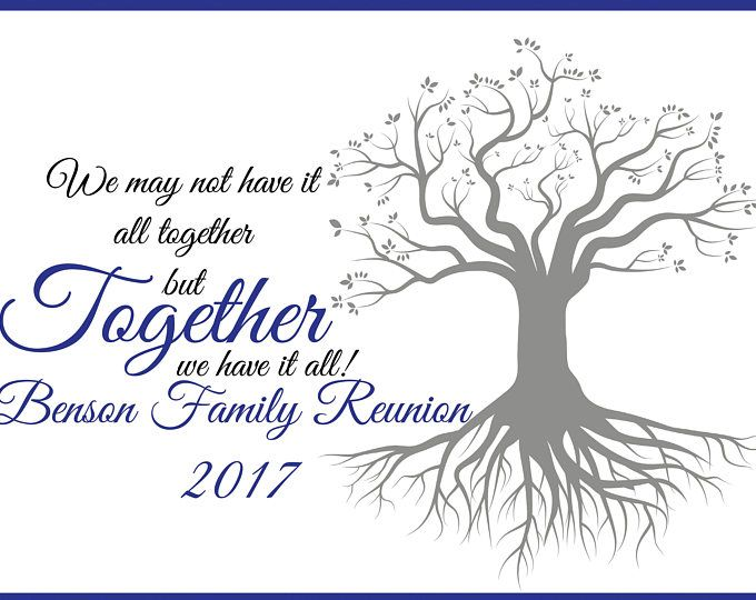 Large Personalized Family Reunion Banner Family Tree