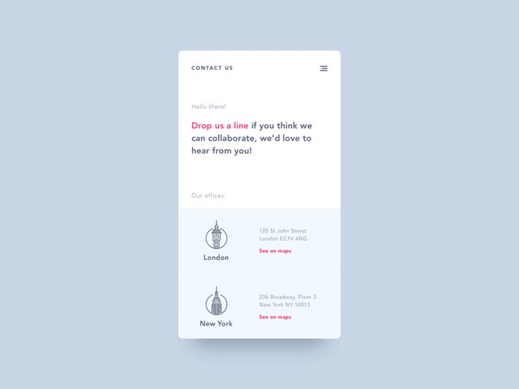 Daily UI #028 - Contact Us by David Rodriguez