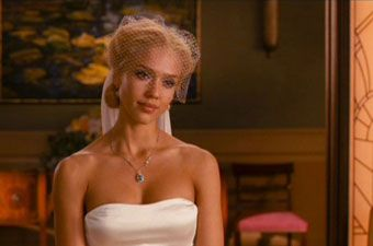 jessica alba wedding dress in fantastic four