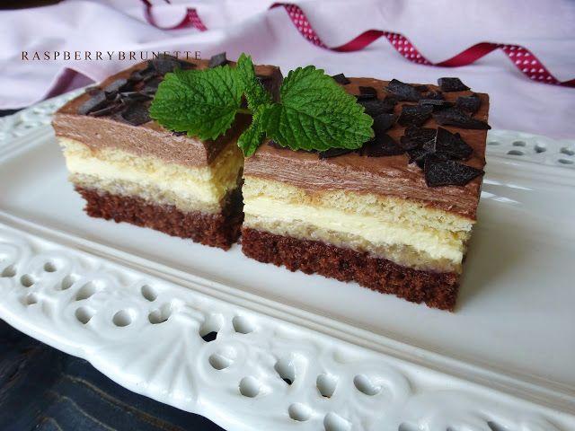 Raspberrybrunette: Čokoládovo-orechové lahodné rezy