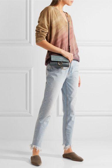 Raquel Allegra - Boyfriends Distressed Tie-dyed Merino Wool And Cashmere-blend Sweater - Antique rose -