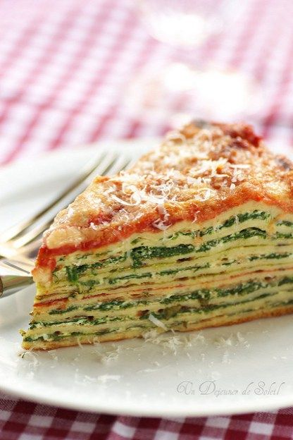 Lasagne crêpes with Spinach and Ricotta