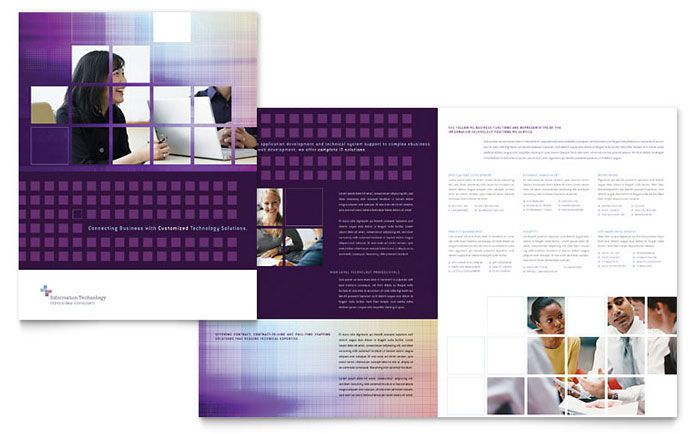 Information Technology Consultants Brochure Template Design by StockLayouts