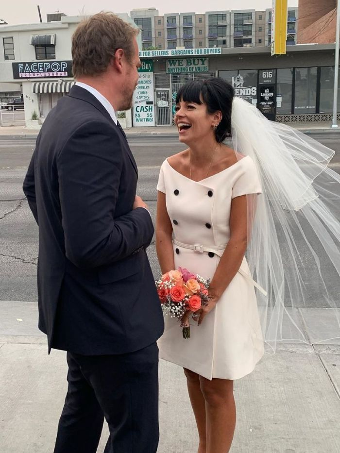 Lily Allen Just Wore the Perfect 2020 Wedding Dress in