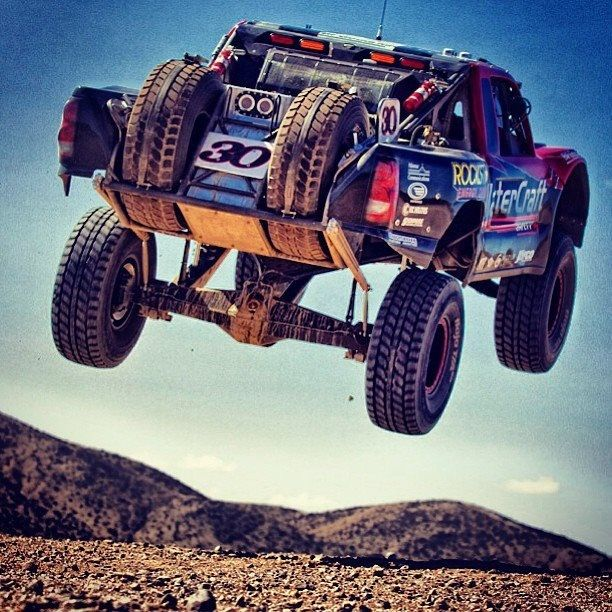 In flight Trophy Truck