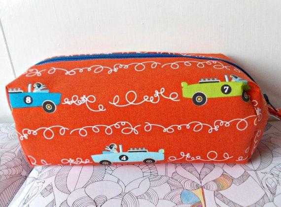 Car Pencil Case Childrens Pen Bag Boys Pencil Case by MelvisMakes