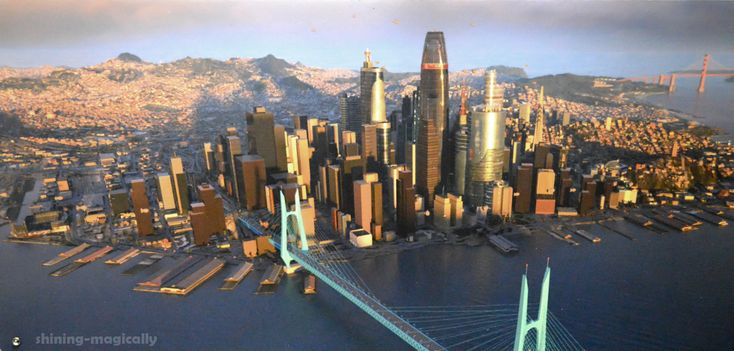 concept art for big hero 6s san fransokyo is absolutely