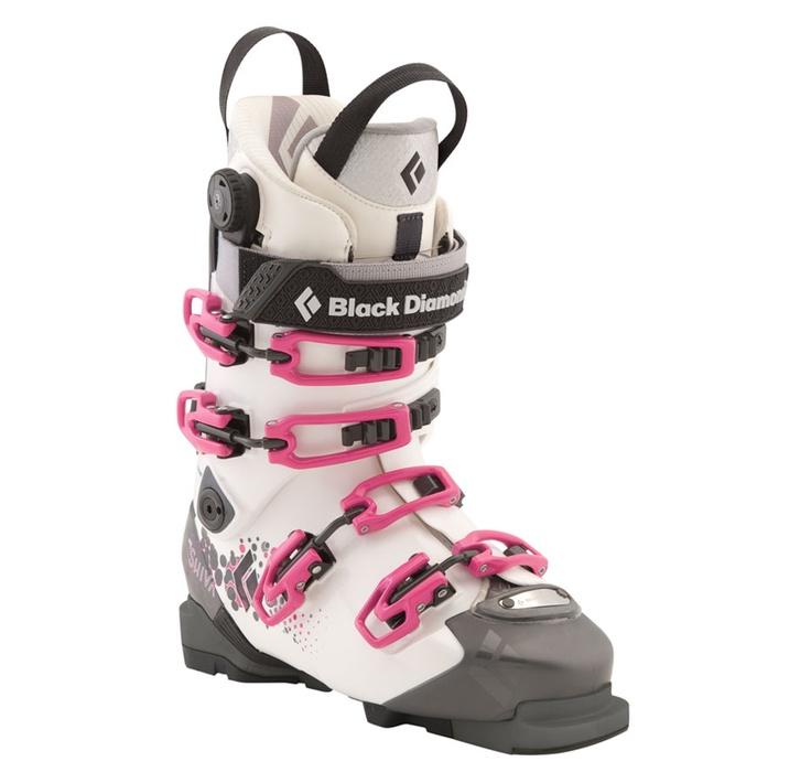 Shiva Ski Boot - Women's - Black Diamond Ski Gear..... So me..,. Love pink and white ... !!! Grey will work too