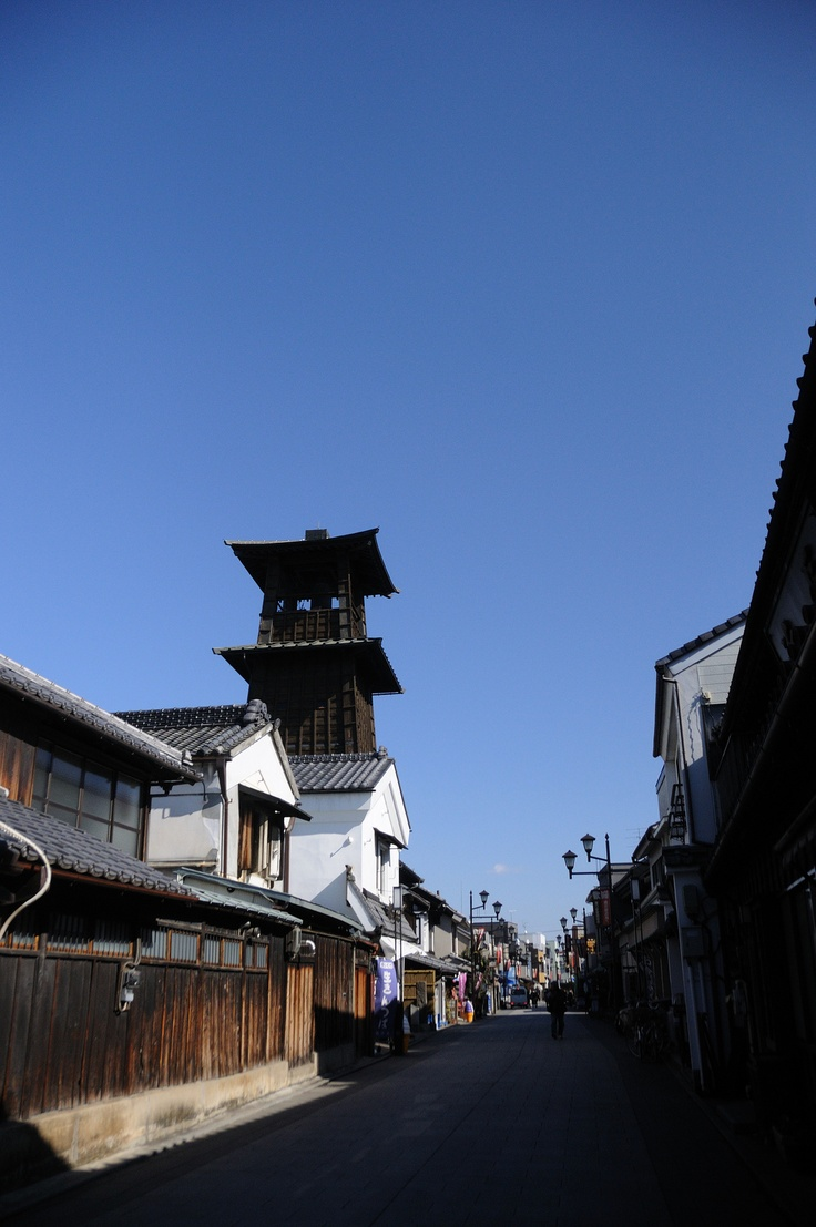An old bell tower in Kawagoe, Saitama, Japan 川越市 時の鐘