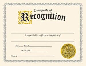 Classic Certificate Of Recognition | Dignified design for special occasions. | NestLearning.com