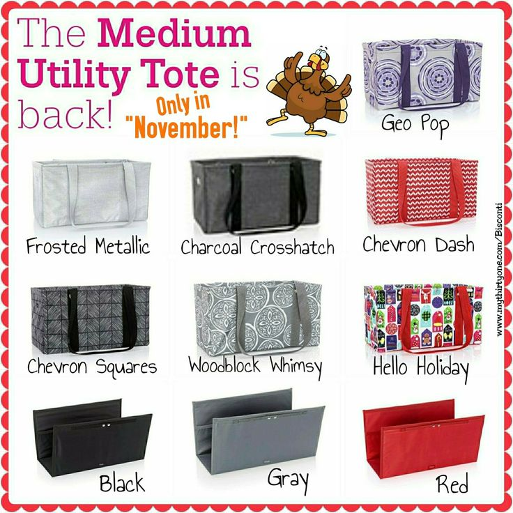 The Medium Utility Tote is back!, November Customer Special, Thirty One, Thirty-One, www.mythirtyone.com/Bisconti, www.facebook.com/groups/VIP31Bisconti
