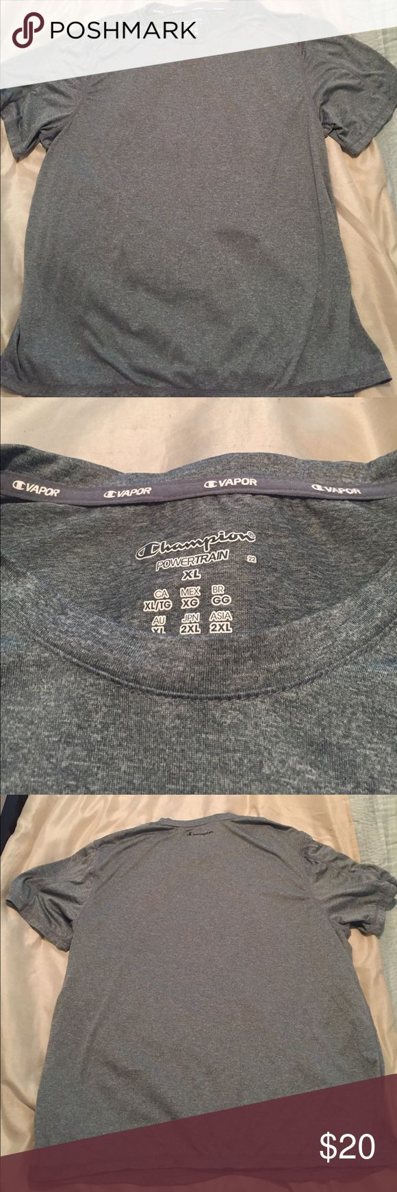 Men's gray athletic shirt Never worn Champion Power Train athletic shirt. Champion Shirts