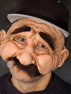 funny halloween mask images | Stan The Man Funny Old Baseball Adult Halloween Mask Eat & Drink While ...