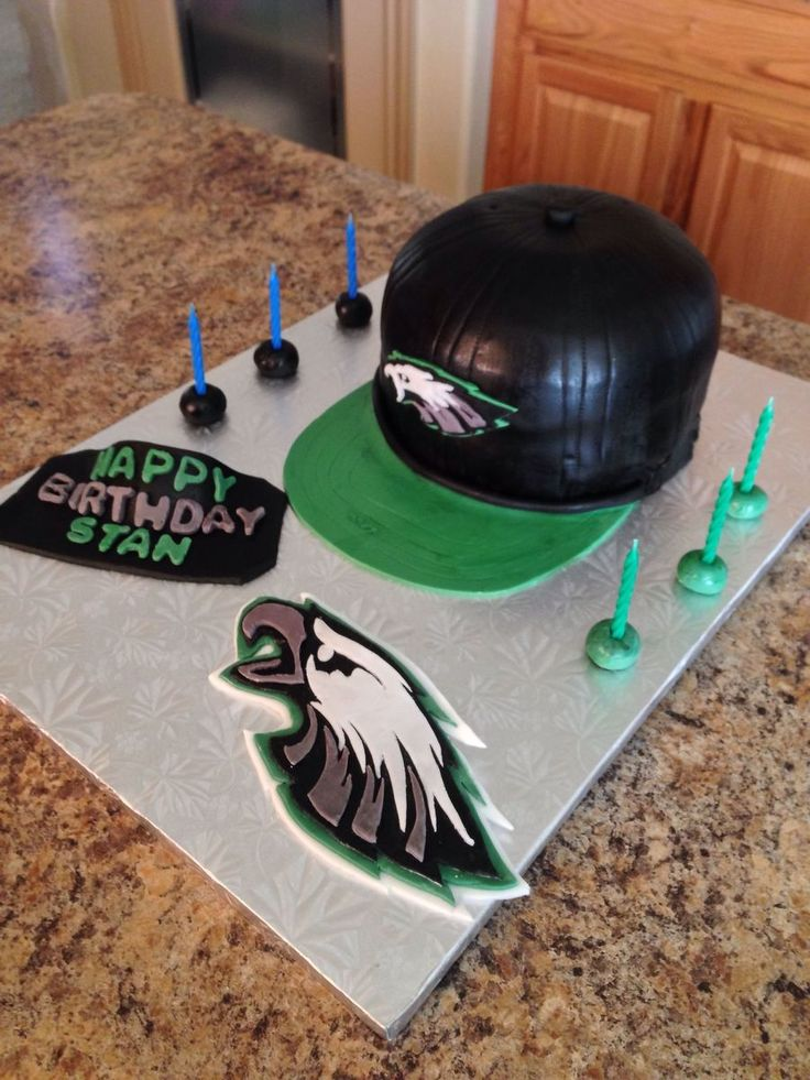 Philadelphia Eagles Hat Cake Everything Made With Fondant Philadelphia eagles hat cake everything made with fondant