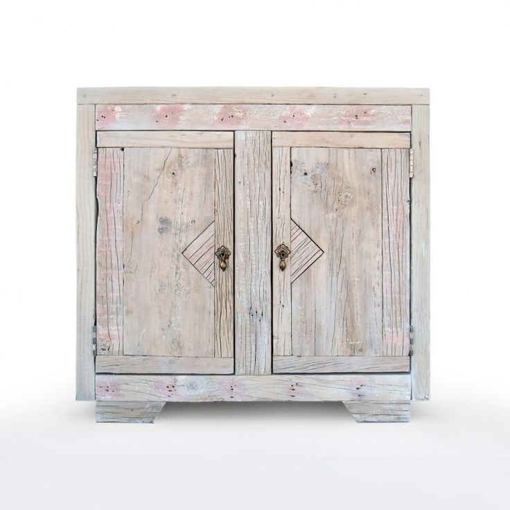 """A very nice and bright looking driftwood cabinet with lovely details and two large front doors. A very unique piece of """"moebl""""!  www.moebl.co.nz/product/cabinet-triangle/"""