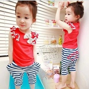 Aliexpress.com : Buy Girls Suits Striped Summer Sets Kids Casual Cute Outfits Cute Vests + Striped Pants Garment  from Reliable Girls Suits  suppliers on beike's store