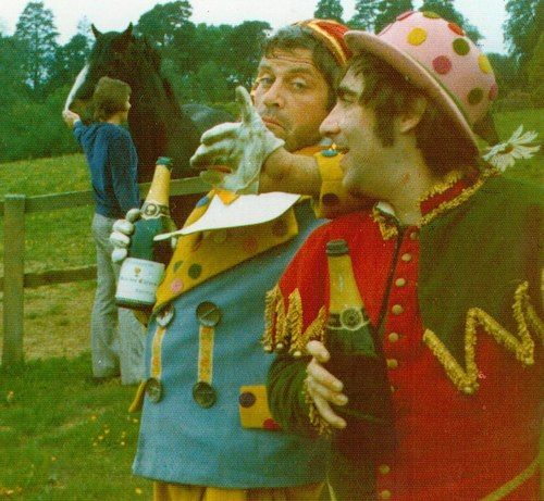 Oliver Reed & Keith Moon, Broome Hall.