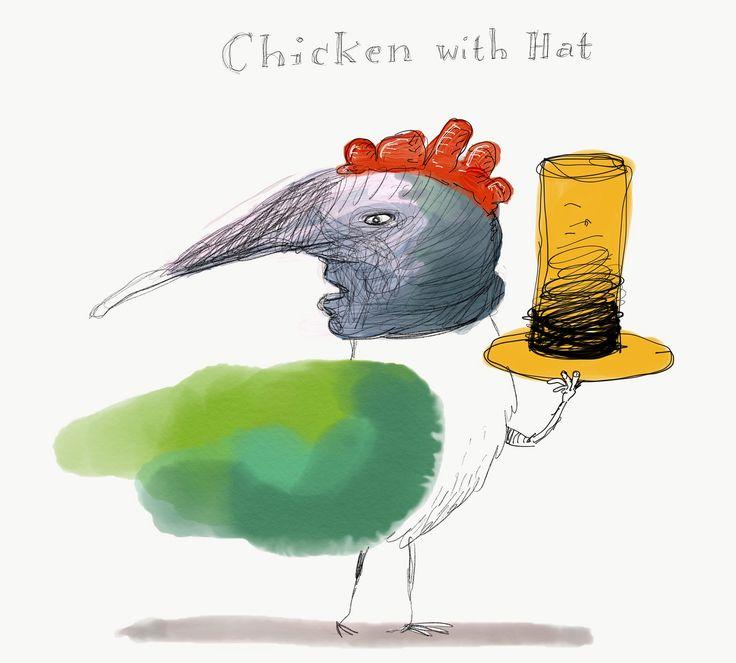 https://flic.kr/p/EddeAV | The Chicken Hat | Adobe Sketch on iPad Pro