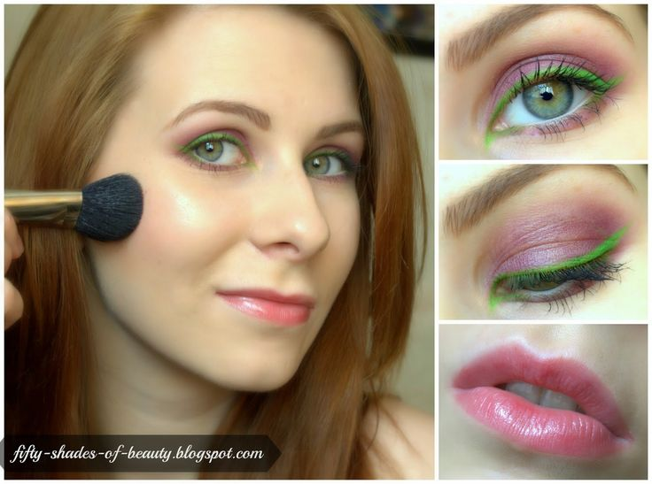 Green Eyeliner Make Up | http://fifty-shades-of-beauty.blogspot.com/