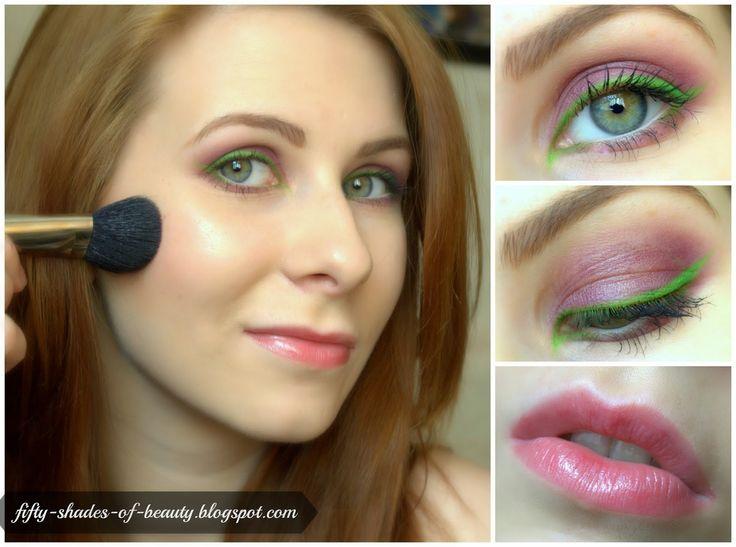 Green Eyeliner Make Up | http://fifty-shades-of-beauty.blogspot.com/