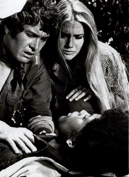 Tige Andrews, Michael Cole, and Clarence Williams III in The Mod Squad (1968)