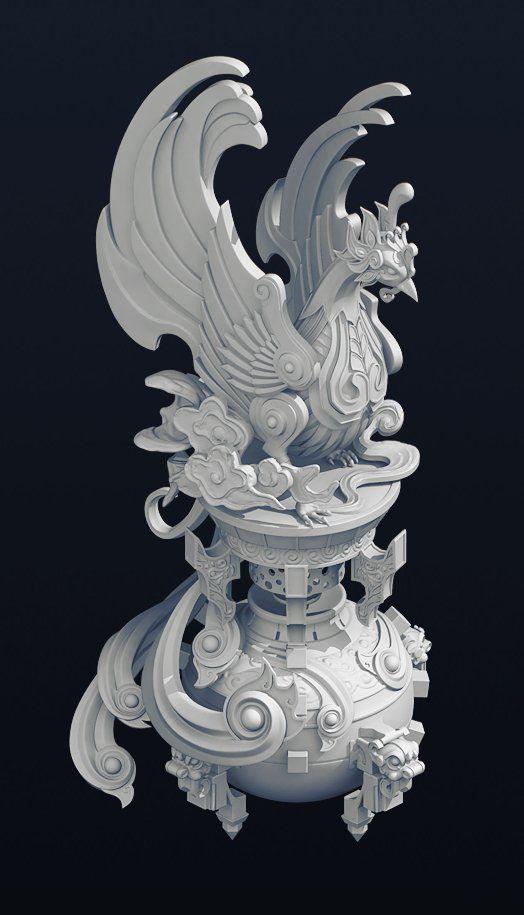 ArtStation - Phoenix_model, wan kang