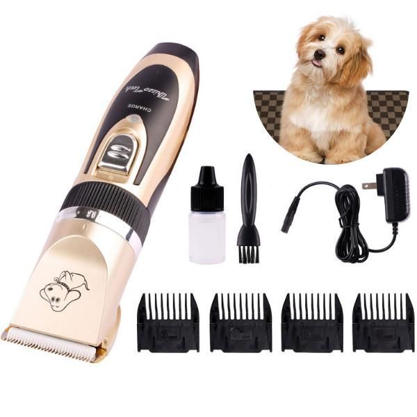 Rechargeable Electric Dog Shaver Low Noise Cordless Hair Clippers For Dogs Cats Pets Grooming Guard Comb Lengths How To U In 2020 Dog Cat Pets Cats Dog Clippers